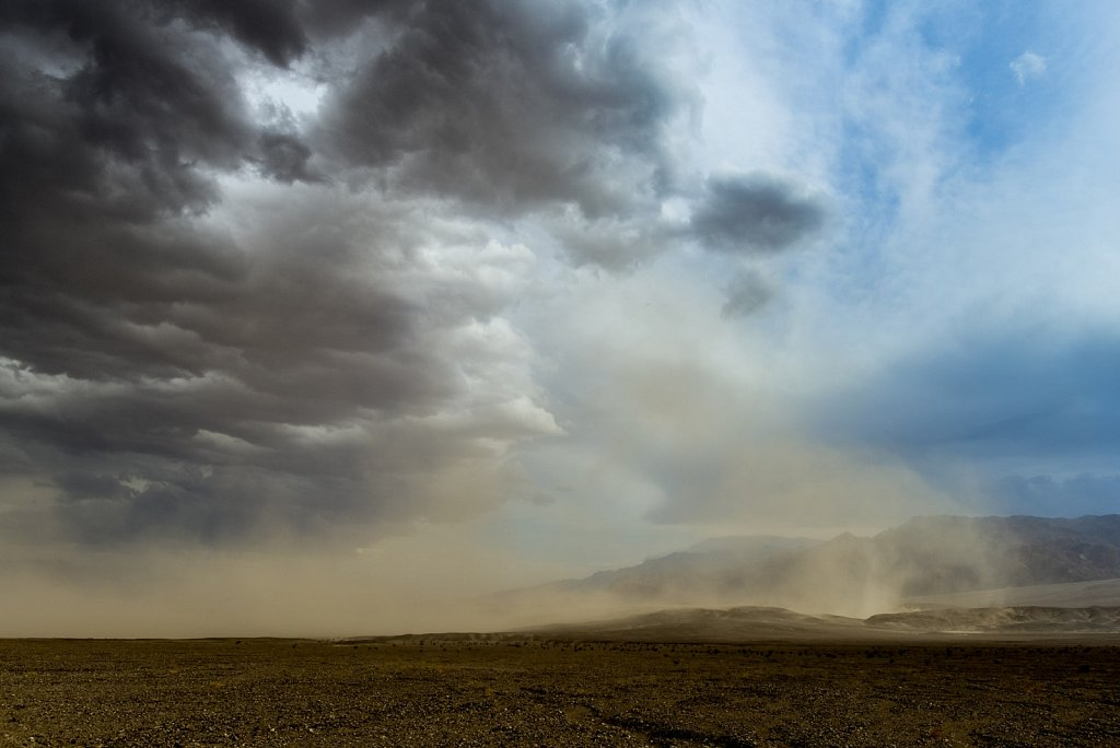 Sand Storm over Death Valley